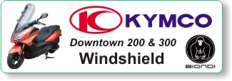 Biondi windhsiled for Kymco Downtown 200 & 300 scooters