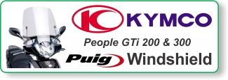 PUIG windscreen for Kymco People GTi 200 & 300 scooters