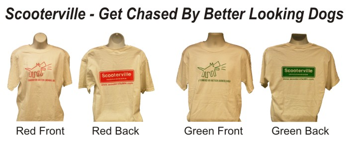 Scooterville Get Chased By Better Looking Dogs T-Shirt